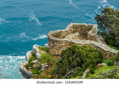 Top view of an observation desk at Cape point. Cape of Good Hope, South Africa.