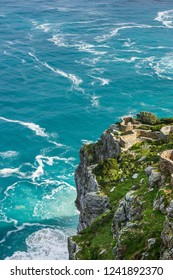 Top view of an observation desks at Cape point. Cape of Good Hope, South Africa.
