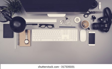 Top view office - Shutterstock ID 317335031