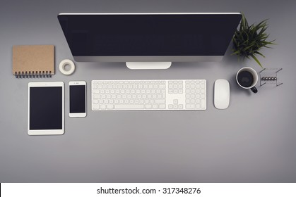 Top view office responsive design