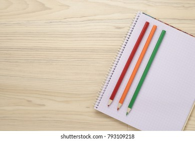 Top View Office And School Accessories On Natural Background