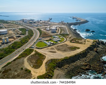 Top View of the Oil Refinery, Sines Portugal