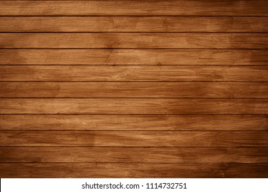 Top view of old rustic natural grunge brown wood texture free background surface pattern.