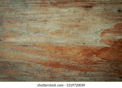 top view of old table wood texture background