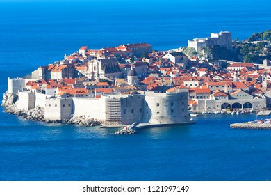 Top View of the old town, Dubrovnik, Croatia
