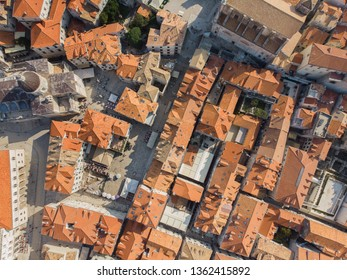 Top view of the old town of Dubrovnik, Croatia