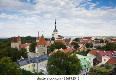 Top view on houses of Old Town, TALLINN, ESTONIA