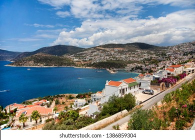 Top view on Kalkan town,Turkey
