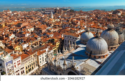 Top view on San Marco square in Venice.