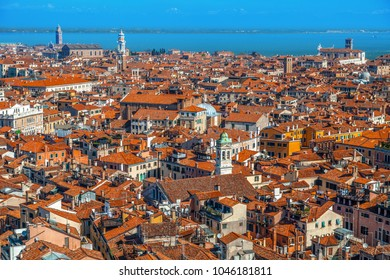 Top view on Venice from San Marco tower.