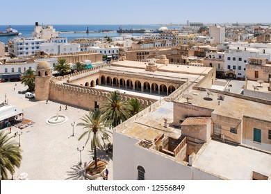 Top view onto Medina of Sousse, Tunisia