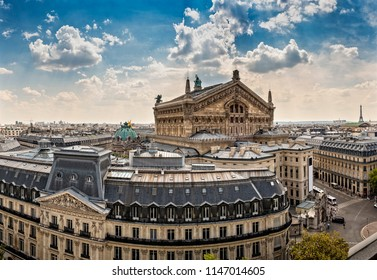 Top view over Paris with Opera National