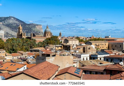 Top view of the Palermo cityscape, Sicily, Italy