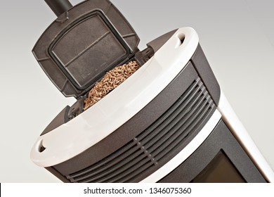 top view of a pellet stove