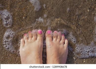 Pink Toenails Images, Stock Photos & Vectors | Shutterstock