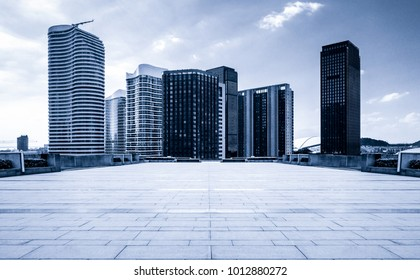 Top view photography of the city and the buildings