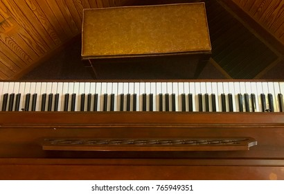 Top view of piano