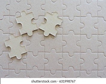 Top view pieces of puzzle jigsaw, puzzle background.
