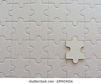 Top view of puzzle background.