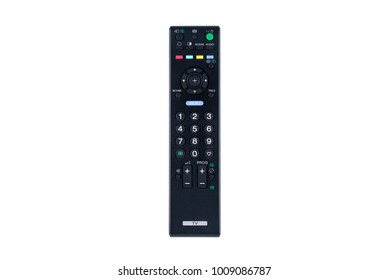 Top view of Remote control for television on white background or isolated
