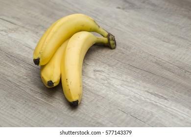 Top view of ripe bananas