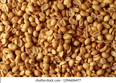 Top View of Roasted peanuts salted. background, texture