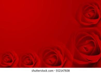Top view Rose Valentine Background