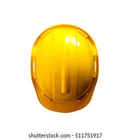 Top view Safety Engineer Helmet ,Isolated white background
