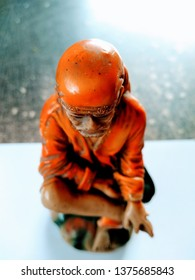 Top view of sai baba statue