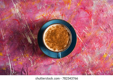 Top View Salep on Colorful Background