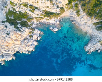 Top view of Sardinian coast.