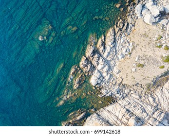 Top view of Sardinian coast.