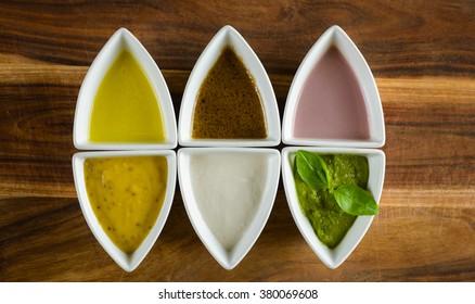 Top view sauces