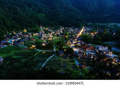 Top view of Shirakawago, Japan