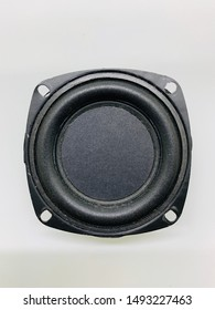 Top view small loud speaker with white background