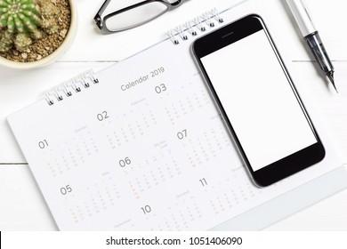 Smartphone Calendar Stock Photos, Images & Photography