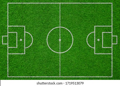 top view soccer field, football field