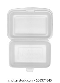 Top view of styrofoam box isolated on white background