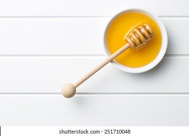 top view of sweet honey