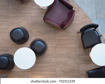 top view tables and  chairs