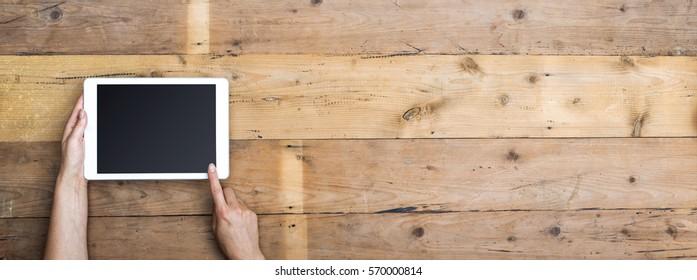 top view tablet header