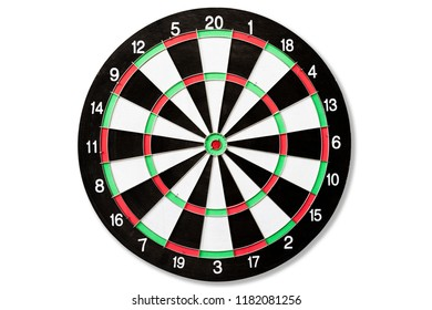 Top view of Target dart board. Business target or goal success and winner concept.