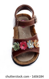 top view of toddlers' sandals