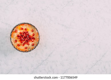 Top View Traditional Dessert Asure Ashure