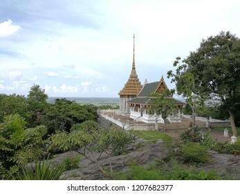 Top view of Wat Kao Dee Salak , Suphanburi,Thailand.