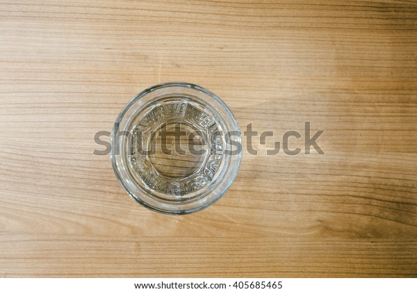 Top view of the water glass