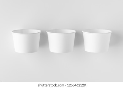 Top view of a white ice cream paper cup mockup.