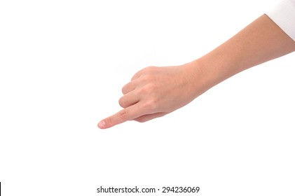 Top view woman hand