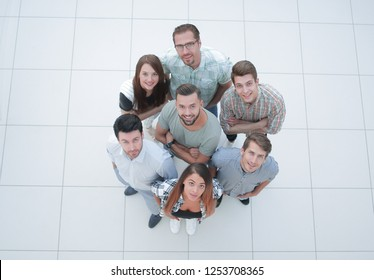 top view.group group of successful young people