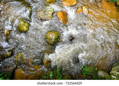 top waterfall,The beautiful waterfall in forest, spring, long exposure